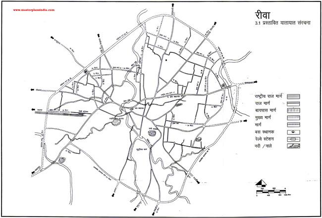 Rewa Proposed Transportation Map