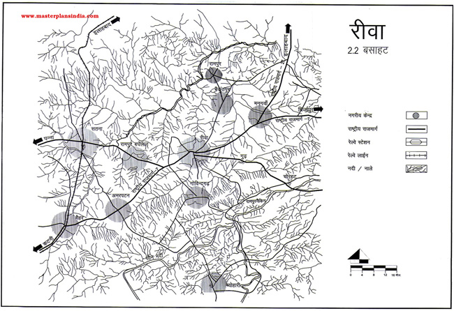 Rewa Residential Settlement Map