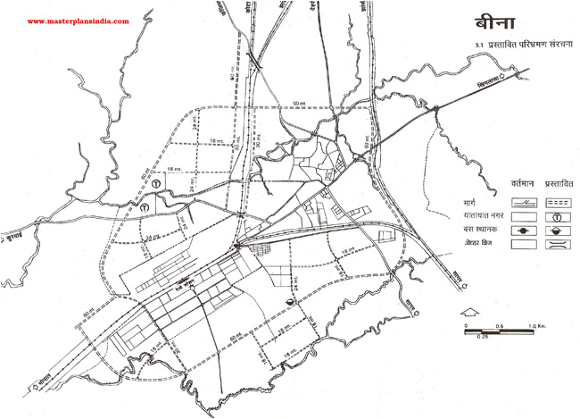 Bina Proposed Roads and Transportaion