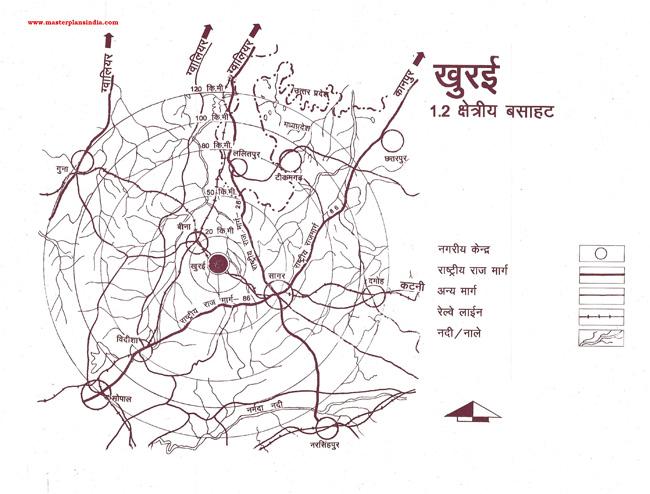 Khurai Residential Settlement Map
