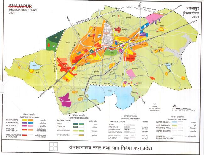 Shajapur Master Plan 2021 Map