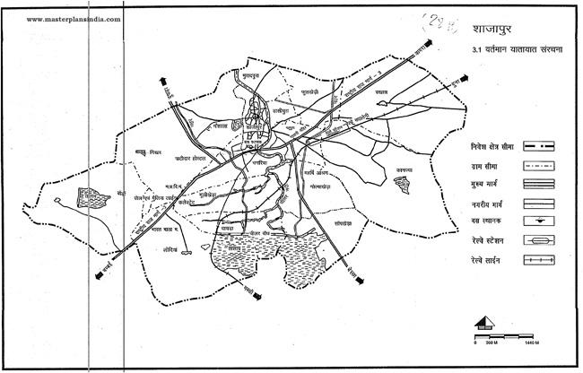 Shajapur Existing Transportation Pattern