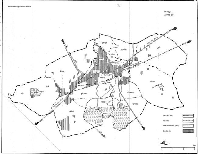 Shajapur Planning Area Map