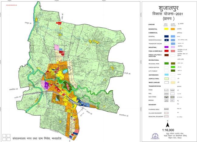 Shujalpur Master Plan 2031 Map