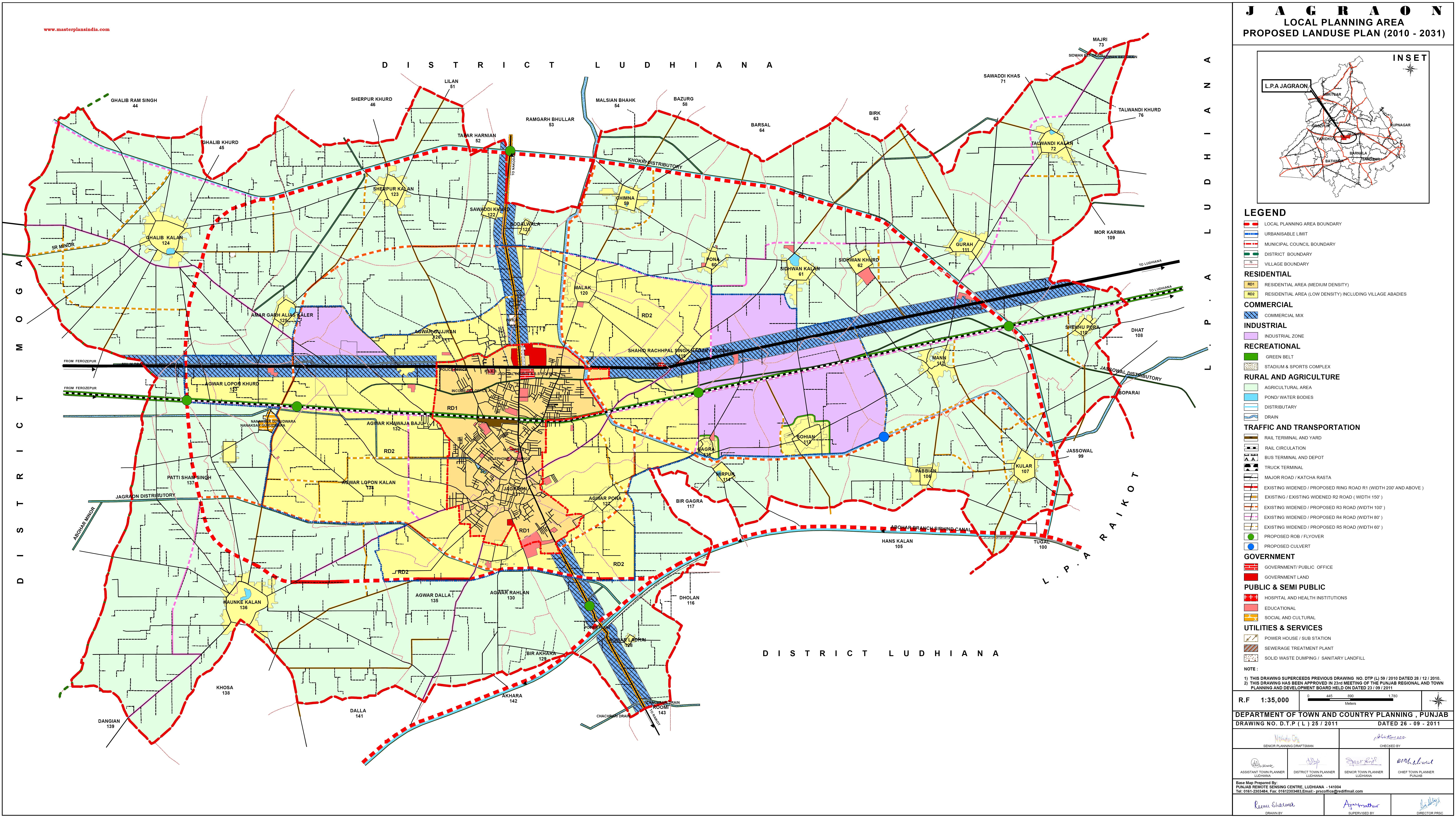 Jagraon Master Plan 2031 Map PDF Download - Master Plans India