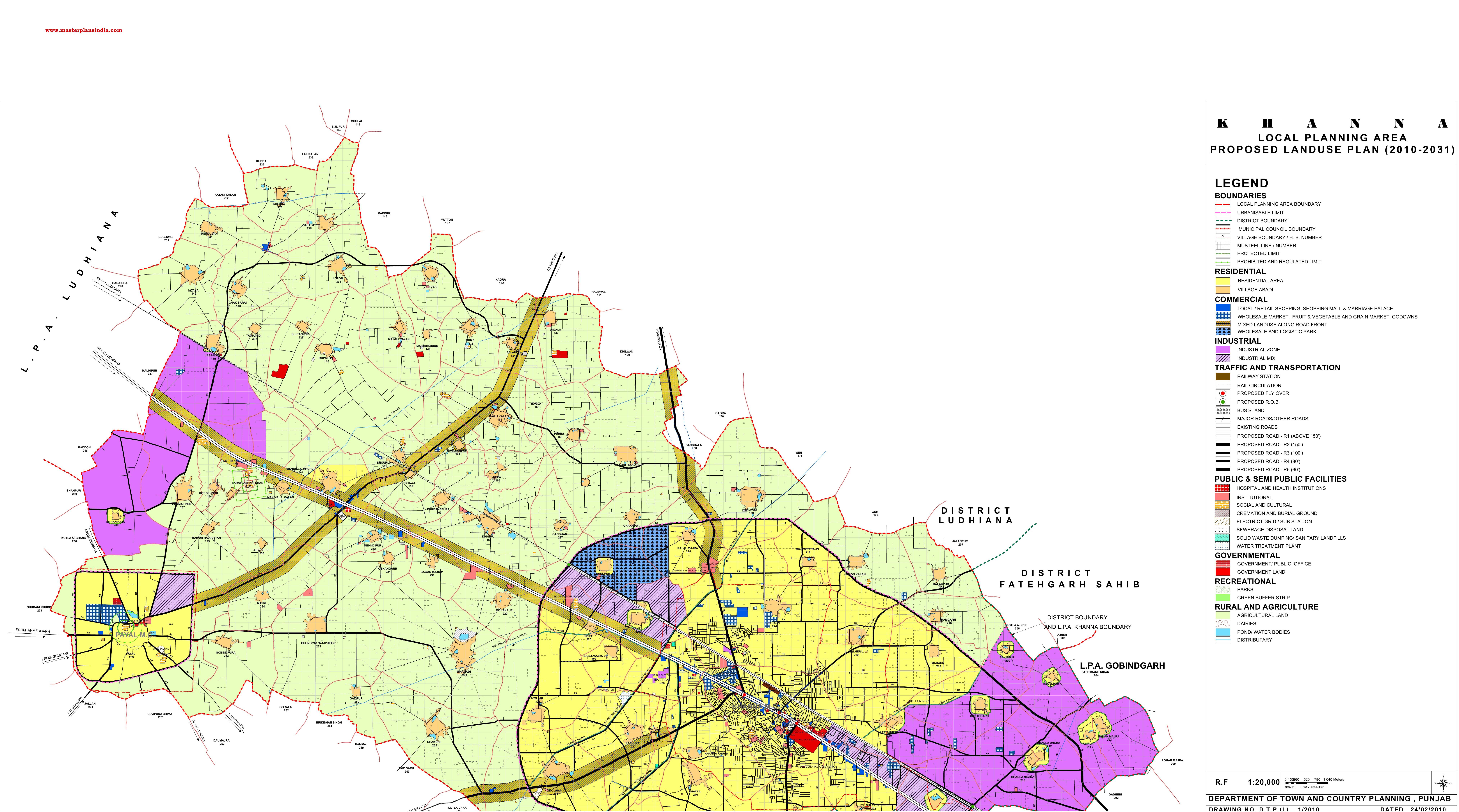 Khanna Master Plan 2031 Map PDF Download - Master Plans India