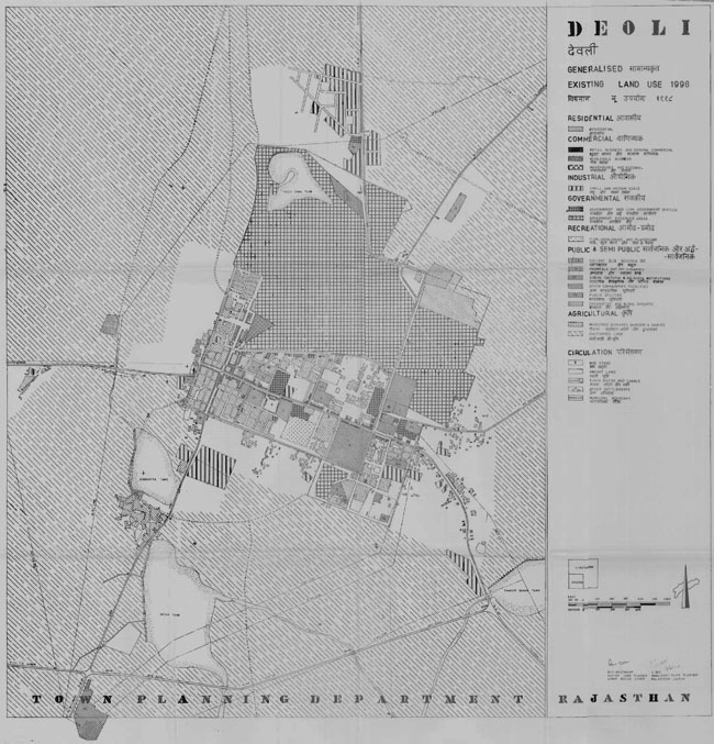 Deoli Existing Land Use Map 1998