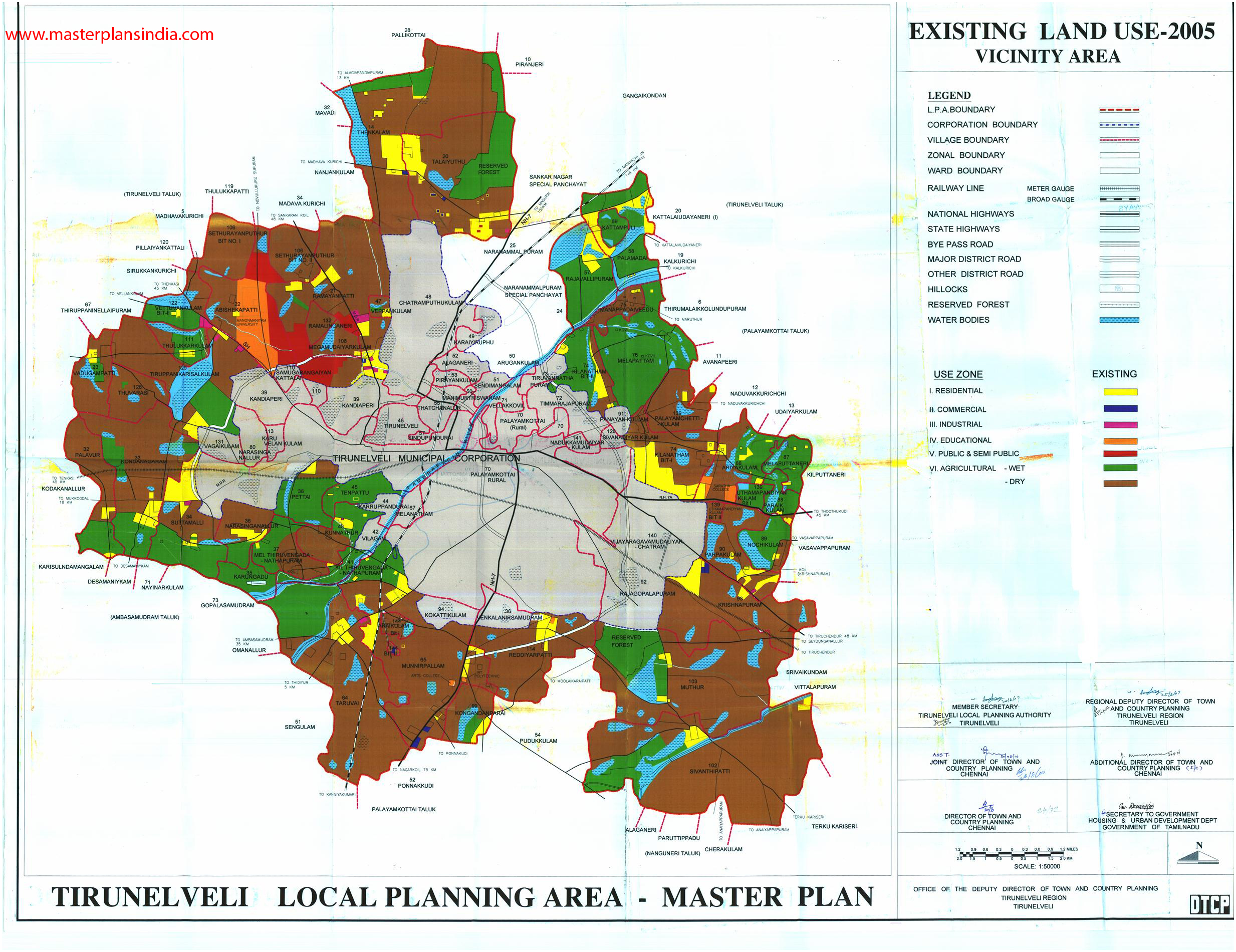 Tirunelveli India  city photo : Tirunelveli Existing Landuse Map 2005 PDF Download Master Plans ...