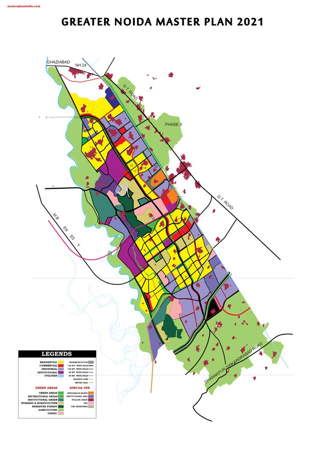 Greater Noida Master Development Plan 2021 Map
