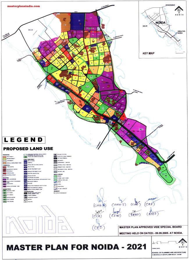 Noida Master Development Plan 2021 Map